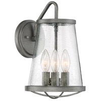 Designers Fountain 87092-WI Darby 3 Light 13 inch Weathered Iron Outdoor Wall Lantern