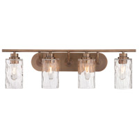 Designers Fountain Gramercy Park 4 Light Bath Bar in Old Satin Brass 87104-OSB