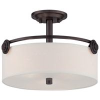 Gramercy Park 3 Light 120 Old English Bronze Semi-Flush Ceiling Light