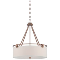 Designers Fountain Gramercy Park 3 Light Pendant in Old Satin Brass 87131-OSB