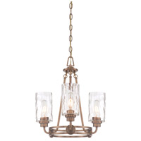 Designers Fountain Gramercy Park 3 Light Chandelier in Old Satin Brass 87183-OSB