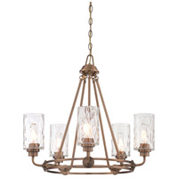 Designers Fountain Gramercy Park 5 Light Chandelier in Old Satin Brass 87185-OSB