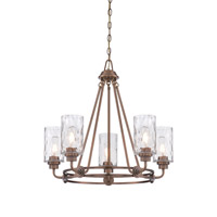 Gramercy Park 5 Light 26 inch Old Satin Brass Chandelier Ceiling Light