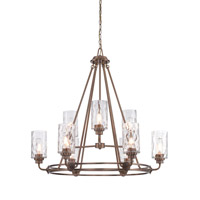 Designers Fountain Gramercy Park 9 Light Chandelier in Old Satin Brass 87189-OSB