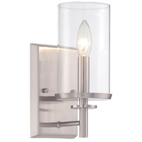 Harlowe 1 Light 5 inch Satin Platinum Wall Sconce Wall Light