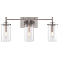 Harlowe 3 Light 24 inch Satin Platinum Bath Bar Wall Light