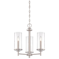 Harlowe 3 Light 18 inch Satin Platinum Chandelier Ceiling Light