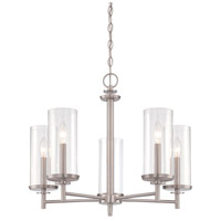 Harlowe 5 Light 25 inch Satin Platinum Chandelier Ceiling Light