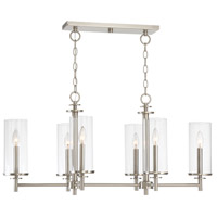 Harlowe 6 Light 36 inch Satin Platinum Island Pendant Ceiling Light
