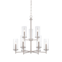 Harlowe 9 Light 29 inch Satin Platinum Chandelier Ceiling Light