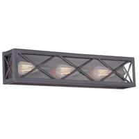 Designers Fountain High Line 3 Light Bath Bar in Satin Bronze 87303-SB