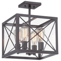 Designers Fountain High Line 4 Light Semi-Flush in Satin Bronze 87311-SB