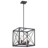 High Line 4 Light 120 Satin Bronze Pendant Ceiling Light