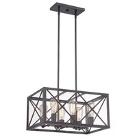 Designers Fountain High Line 6 Light Chandelier in Satin Bronze 87386-SB
