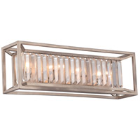 Linares 4 Light 24 inch Aged Platinum Bath Bar Wall Light