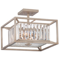 Linares 3 Light 120 Aged Platinum Semi-Flush Ceiling Light