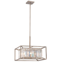 Designers Fountain 87431-AP Linares 4 Light 120 Aged Platinum Pendant Ceiling Light