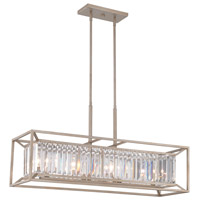 Designers Fountain Linares 4 Light Island Light in Aged Platinum 87438-AP