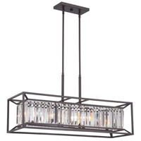 Designers Fountain 87438-VB Linares 4 Light 36 inch Vintage Bronze Linear Chandelier Ceiling Light