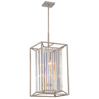 Designers Fountain Linares 4 Light Foyer Light in Aged Platinum 87454-AP