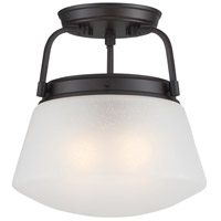 Mason 2 Light 120 Satin Bronze Semi-Flush Ceiling Light