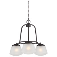 Designers Fountain Mason 3 Light Chandelier in Satin Bronze 87783-SB