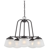 Designers Fountain Mason 5 Light Chandelier in Satin Bronze 87785-SB