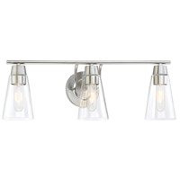 Designers Fountain Echo 3 Light Vanity Light in Satin Platinum 87803-SP