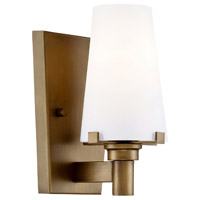 Hyde Park 1 Light 5 inch Vintage Gold Wall Sconce Wall Light in Opal