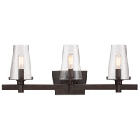 Hyde Park 3 Light 24 inch Vintage Bronze Bath Vanity Wall Light in Seedy