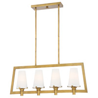 Hyde Park 4 Light 36 inch Vintage Gold Island Pendant Ceiling Light