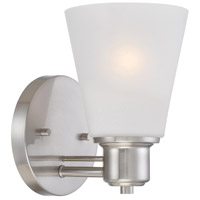 Printers Row 1 Light 5 inch Satin Platinum Wall Sconce Wall Light