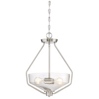 Designers Fountain Printers Row 1 Light Inverted Pendant in Satin Platinum 88031-SP