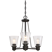 Designers Fountain 88083-ORB Printers Row 3 Light 20 inch Oil Rubbed Bronze Chandelier Ceiling Light