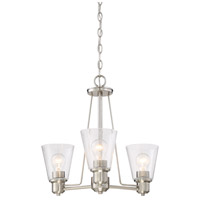 Printers Row 3 Light 20 inch Satin Platinum Chandelier Ceiling Light