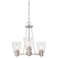 Designers Fountain 88083-SP Printers Row 3 Light 20 inch Satin Platinum Chandelier Ceiling Light