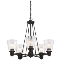Designers Fountain 88085-ORB Printers Row 5 Light 24 inch Oil Rubbed Bronze Chandelier Ceiling Light