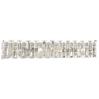 West 65th 4 Light 31 inch Satin Platinum Vanity Wall Light
