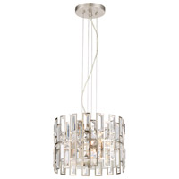 West 65th 2 Light 100 Satin Platinum Semi-Flush Ceiling Light, Convertible
