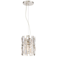 West 65th 1 Light 8 inch Satin Platinum Mini-Pendant Ceiling Light