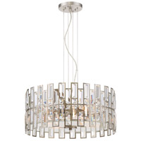 West 65th 4 Light 100 Satin Platinum Pendant Ceiling Light