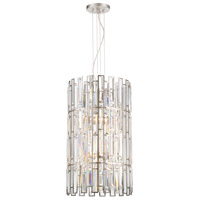West 65th 6 Light 16 inch Satin Platinum Foyer Ceiling Light