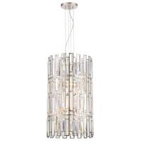 Designers Fountain 88256-SP West 65th 6 Light 16 inch Satin Platinum Foyer Ceiling Light
