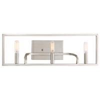 Uptown 3 Light 24 inch Satin Platinum Bath Vanity Wall Light