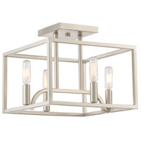 Designers Fountain 88411-SP Uptown 4 Light Satin Platinum Semi-Flush Ceiling Light thumb