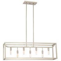 Designers Fountain 88438-SP Uptown 7 Light 36 inch Satin Platinum Island Pendant Ceiling Light