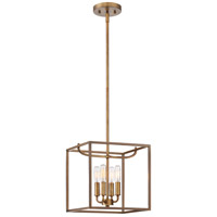 Designers Fountain Uptown 4 Light Foyer in Old Satin Brass 88454-OSB