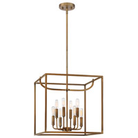 Uptown 8 Light 17 inch Old Satin Brass Foyer Ceiling Light