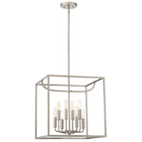 Uptown 8 Light 17 inch Satin Platinum Foyer Ceiling Light