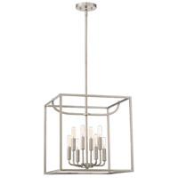 Designers Fountain 88458-SP Uptown 8 Light 17 inch Satin Platinum Foyer Ceiling Light